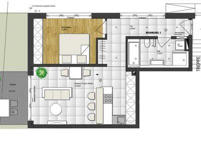 Wohnung 1 – 60 m2
