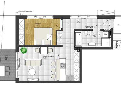Wohnung 4 – 60 m2
