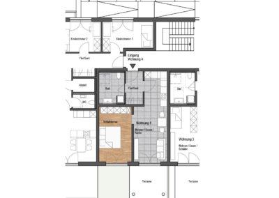 Wohnung Nr. 4 – 2-Zimmer Wohnung mit Terrasse und Garten