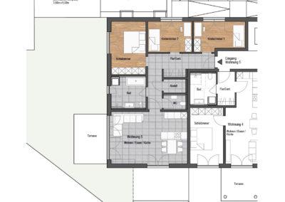 Wohnung Nr. 5 – 4-Zimmer Wohnung mit Terrasse und Garten