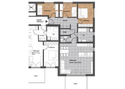 Wohnung Nr. 6 – 4-Zimmer Wohnung mit Balkon, 1. OG