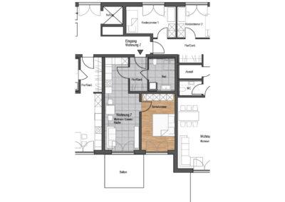 Wohnung Nr. 7 – 2-Zimmer Wohnung mit Balkon