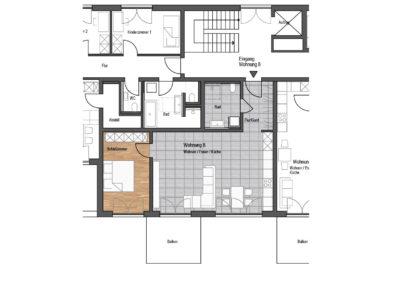 Wohnung Nr. 8 – 2-Zimmer Wohnung mit Balkon