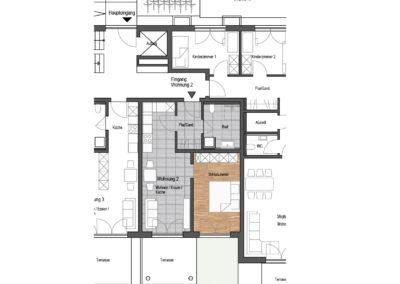 Wohnung Nr. 2 – 2-Zimmer Wohnung mit Terrasse und Garten