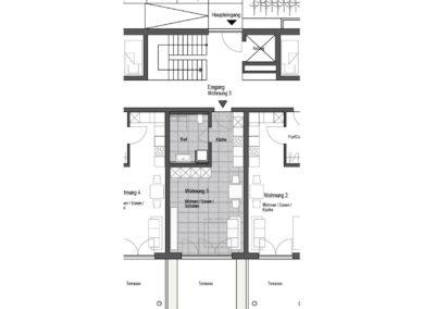 Wohnung Nr. 3 – 1-Zimmer Wohnung mit Terrasse und Garten